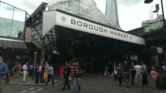 Walking around Borough Market