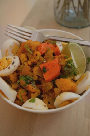 Cauliflower and Egg Curry