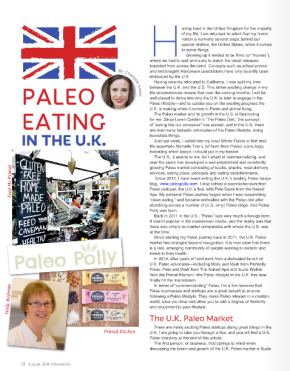 Paleo Polly is featured in Paleo Magazine
