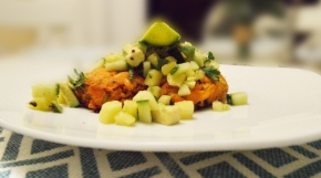 Salmon Fishcakes with Pineapple and Avocado Salsa