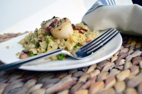 Paleo Caulizotto with Scallops