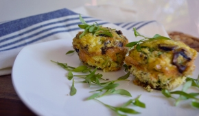Paleo Egg, Mushroom and Chicken Muffins